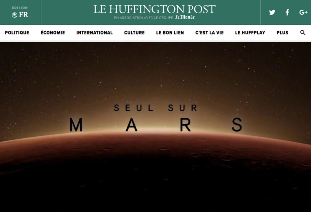 Ce que «SEUL SUR MARS» nous dit sur demain | Huffington Post