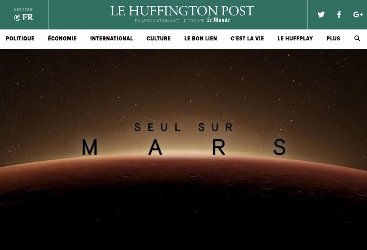 SEUL SUR MARS ou « A la gloire de la connaissance, de l'esprit de débrouille et de la persévérance » | Huffington Post | Ce que la SF nous dit sur demain