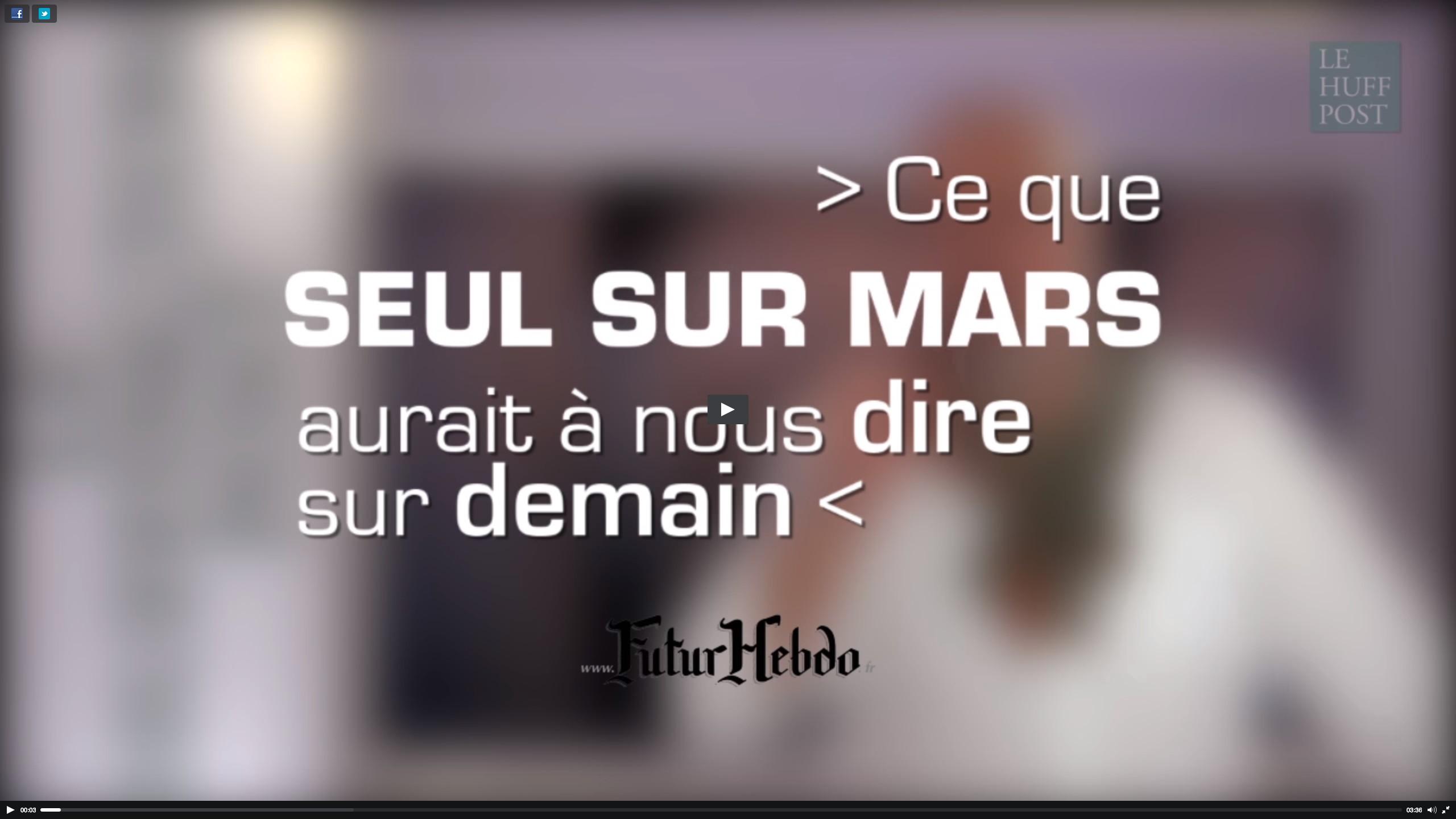La chronique Cinéma & Prospective de FuturHebdo en vidéo avec le Huffington Post France #1
