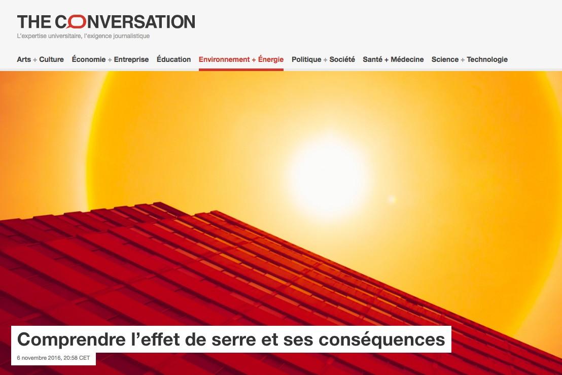 Débat | Comprendre l'effet de serre et ses conséquences | The Conversation