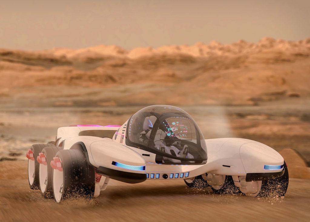 Automobile | Le Rover LX100 à l'essai sur Mars. Nos premières impressions | 01/06/2070